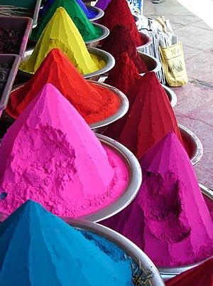 Kumkuma - Kumkum powder from Mysore, India.