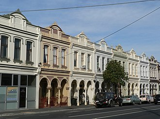 Balaclava, Victoria - Image: Inkerman street terrace housing
