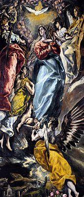 Detalle de la Inmaculada para la capilla Oballe de Toledo (1608-13).