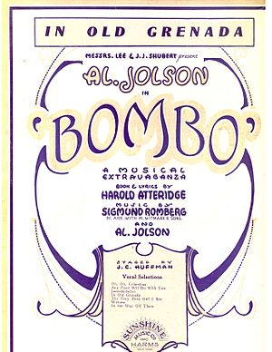 Bombo (musical) - Sheet music cover (cropped)