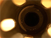 Inside of a muzzle of an M16A2 rifle..jpg
