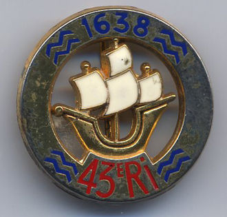 43rd Infantry Regiment (France) - Insignia of the 43rd Infantry Regiment