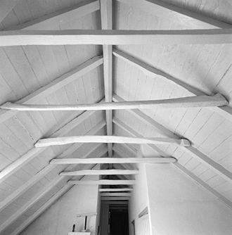 Collar beam - An old collar beam roof in the Netherlands. Image: Cultural Heritage Agency of the Netherlands