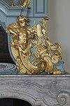 interieur, schoorsteenboezem, detail van neptunus in hout - haarlem - 20353758 - rce