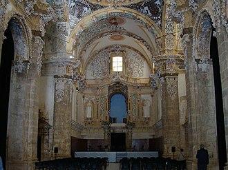 Simat de la Valldigna - Image from inside the church of the Cistercian monastery of Saint Mary of Valldigna, in restoration (January 2008)