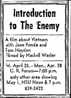 <i>Introduction to the Enemy</i> 1974 American film