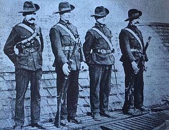 Irish Citizen Army - Members of the Irish Citizen Army including Kit Poole (2nd from left)