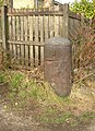 Iron post, Iron Row, Burley in Wharfedale - geograph.org.uk - 699572.jpg