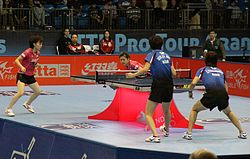 Ishikawa and Fukuhara at Table Tennis Pro Tour Grand Finals 2011 (3).jpg