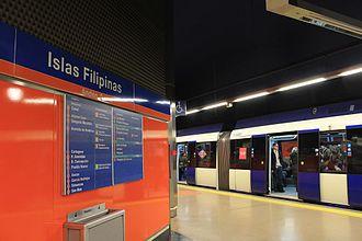 Line 7 (Madrid Metro) - The platforms at Islas Filipinas station.