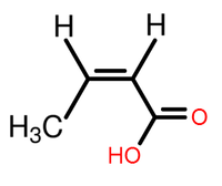 Isocrotonic acid structure.png