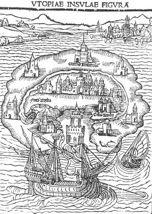 1516 in literature - Illustration for 1516 first edition of More's Utopia