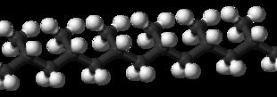 modello tridimensionale di polipropilene isotattico
