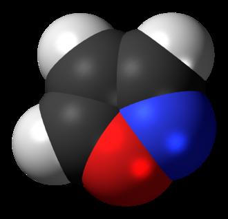 Isoxazole - Image: Isoxazole 3D spacefill