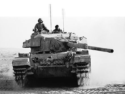 An Israeli Centurion tank operating in the Sinai. Israeli Tank Battles Egyptian Forces in the Sinai Desert - Flickr - Israel Defense Forces.jpg