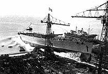 Italian battleship Impero during her launching.jpg