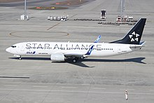 JA51AN Boeing 737 ANA Air Nippon in Star Alliance C-s (7588875112).jpg