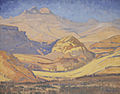 JH Pierneef - On the Road between Clarens and Golden Gate OVS 1934.jpg