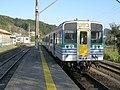 JRE-Kiha38-KururiLine at Kazusa-Kameyama Station.JPG