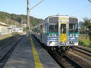 Kururi Line - Kururi Line train waiting for departure at Kazusa-Kameyama Station, 2009