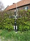foto van Wegkruis met houten corpus, schuin t.o. de Etzenraderhof