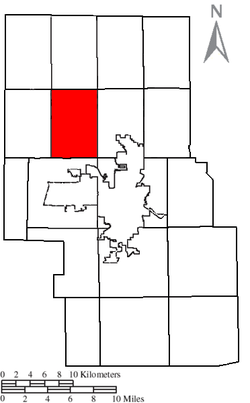 Location of Jackson Township in Richland County.