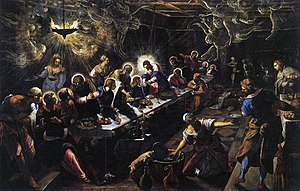 1592 in art - Tintoretto, the Last Supper fresco