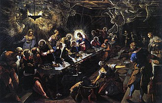 Last Supper (Tintoretto) - Image: Jacopo Tintoretto The Last Supper WGA22649