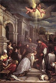jacopo da ponte st valentine baptizing st lucilla wga01452jpg