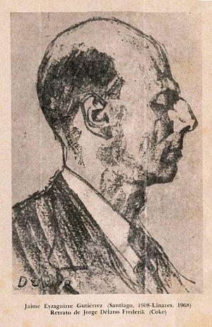 Jaime Eyzaguirre - Portrait of Eyzaguirre by Jorge Delano Frederik.