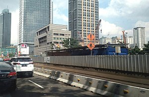 Jakarta MRT construction progress 1