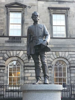 Great Fire of Edinburgh - James Braidwood statue in Parliament Square
