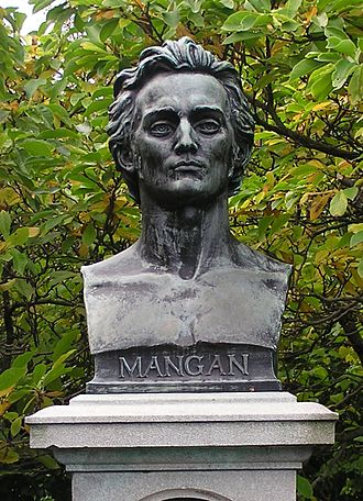 James Clarence Mangan - Memorial bust of Mangan in St. Stephen's Green, sculpted by Oliver Sheppard