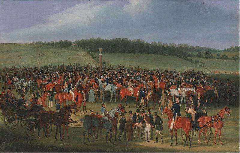 James Pollard - Epsom Races- The Betting Post - Google Art Project.jpg