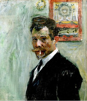 Jan Preisler - Self-portrait with Cigarette (c.1900)