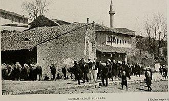 Islamic funeral - A Xhenaze (Janazah) - Muslim funeral in Durrës (Albania 1908)