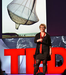 Janet Echelman at the 2011 TED Conference with her art.jpg