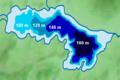 Japan, Tochigi, Nikko- lake Chuzenji bathymetric map 2017.png