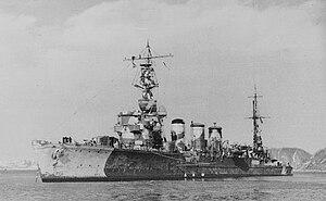 Japanese cruiser Tama - Image: Japanese cruiser Tama in 1942