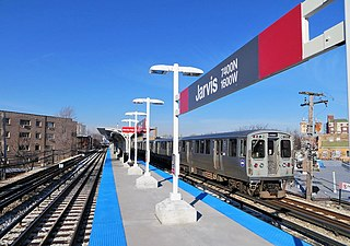 "Jarvis station Chicago ""L"" station"