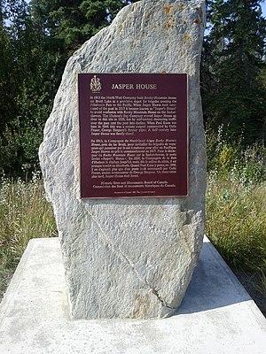 Jasper House - Jasper House marker