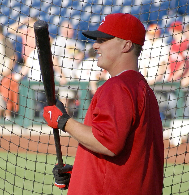 Jay Bruce taking BP.JPG