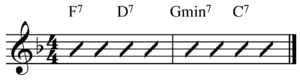 V–IV–I turnaround - Image: Jazz blues turnaround