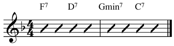Jazz-blues turnaround