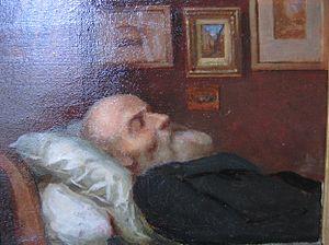 Jean Achard - Jean Achard sur son lit de mort, by Jules Bernard