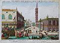 Jean Hauer Prospect des St Marcus Plazes in Venedig gegen der Uhr anzusehen.jpg