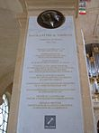 Jean de Lattre de Tassigny memorial plaque, Saint-Louis-des-Invalides, Les Invalides, Paris, France - 20050912.jpg