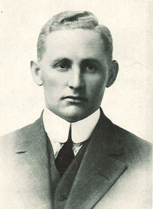 Jesse Hawley (American football) - Hawley from 1912 Hawkeye