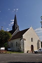 The church of Saint-Sulpice, in Jeu-Maloches