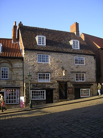 Oldest synagogues in the United Kingdom - Frontage of Jew's Court, Lincoln